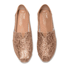 Gold Shoes from Toms - Christmas shoes