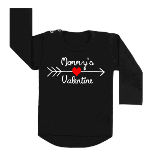Shirt Mommy's Valentine zwart