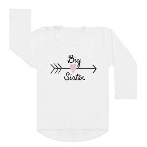 Shirt Big Sister Heart wit