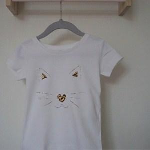 Shirt leopard cat