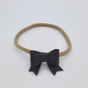Haarbandje zwarte sierlijke strik