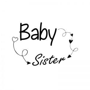 strijkapplicatie baby sister arrows