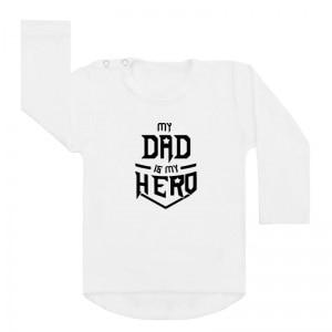 shirt wit my dad is my hero vaderdag