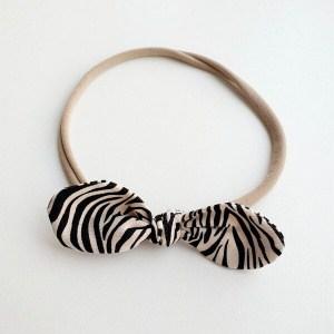 Haarband stoffen zebra strik