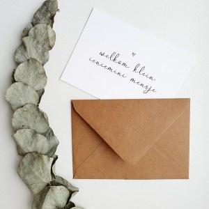 Envelop ansichtkaart