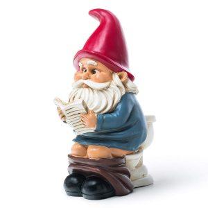 toilet garden gnome