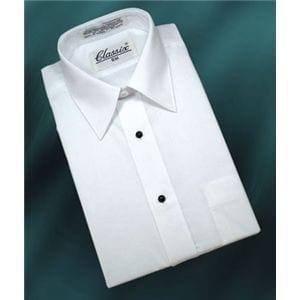 Dress Shirt Laydown Collar Long Sleeve Shirt
