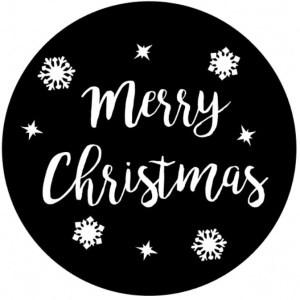 Raamsticker Merry Christmas