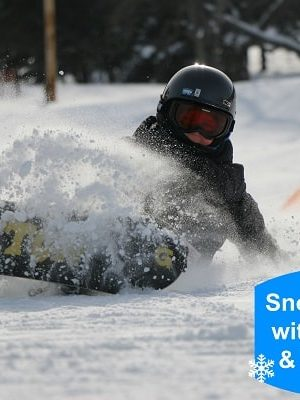snowboarding with toddlers, snowboarding with little kids, snowboarding with toddlers and little kids, holiday valley, learn to snowboard