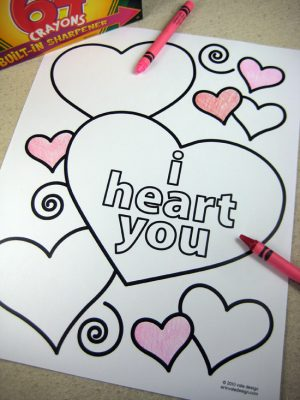 Cute Valentines Day Free Printables for Kids of all ages! Coloring pages