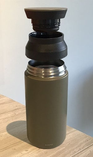 Exploded view of Kinto Travel Tumbler