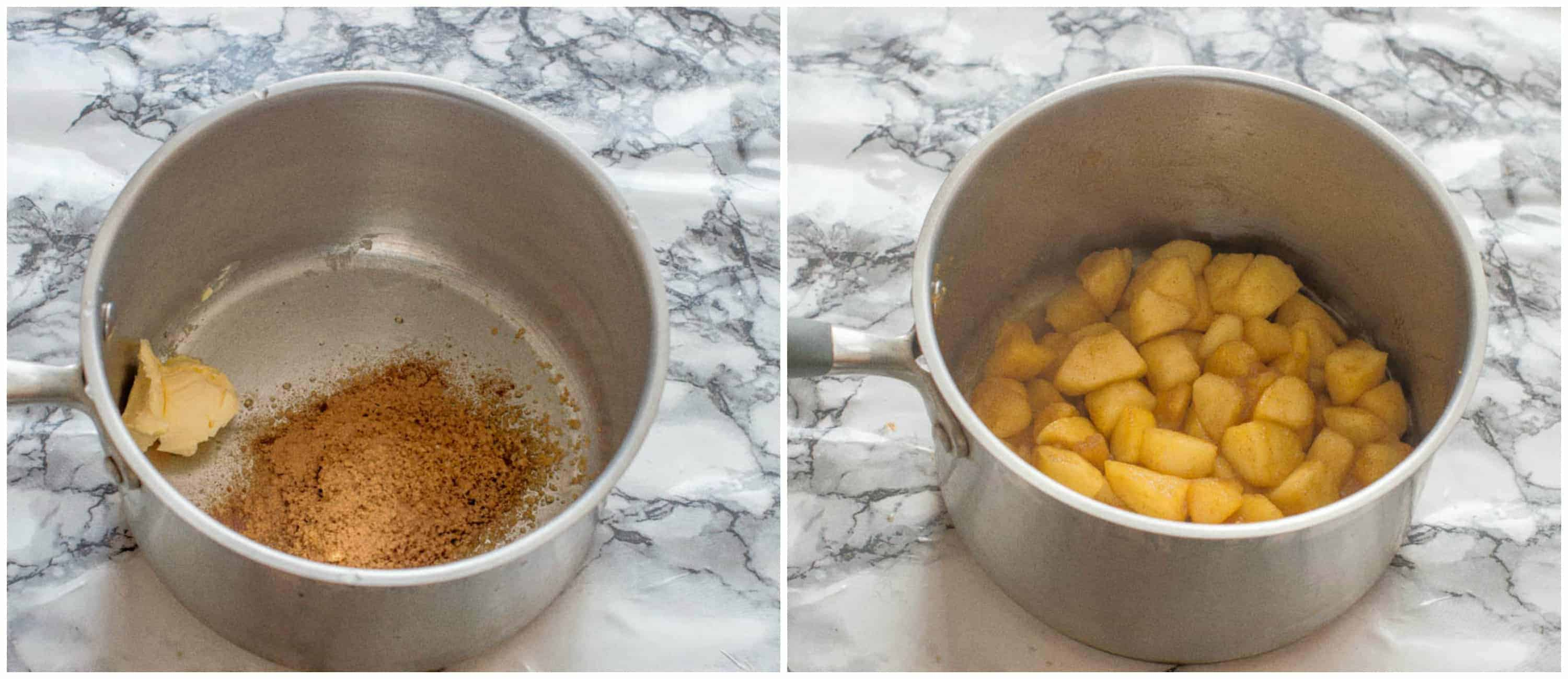 stewing the apples