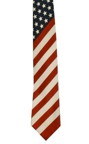 American Flag Tie US American Flag Patriotic Necktie
