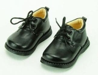 Boys Dress Shoe Patent Leather with Velcro Buckle