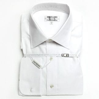 French Cuff White Calvin Klein Steel Slim Fit Non Iron Solid Dress Shirt with