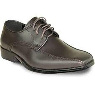 Boys Dress Shoes Matte Cognac Tan