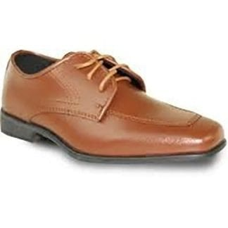 Boys Dress Shoe Chocolate Brown Matte