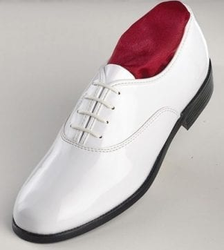 Classic IVORY Patent Leather Lace Up Tuxedo Shoes
