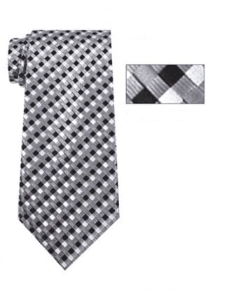 Mens Burgundy, Black and White Striped Skinny Necktie with Matching Pocket Square