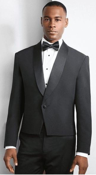 White and Black Slim Fit Narrow Shawl Slim Fit Tuxedo- Prom- Wedding