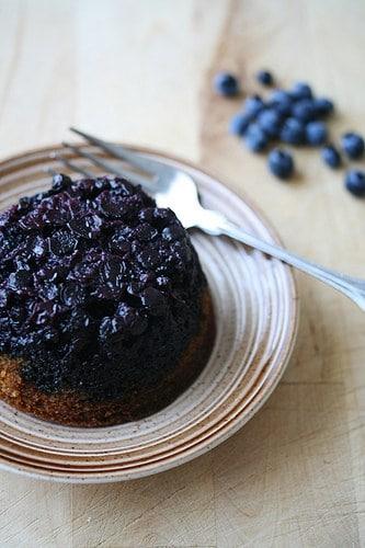 Blueberry Upside-Down Babycakes