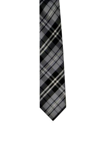 Plaid Microfiber Tie Mens Necktie All Colors
