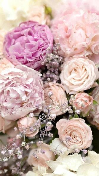 arrangement of flower wallpaper aesthetic, pink flower wallpaper iPhone