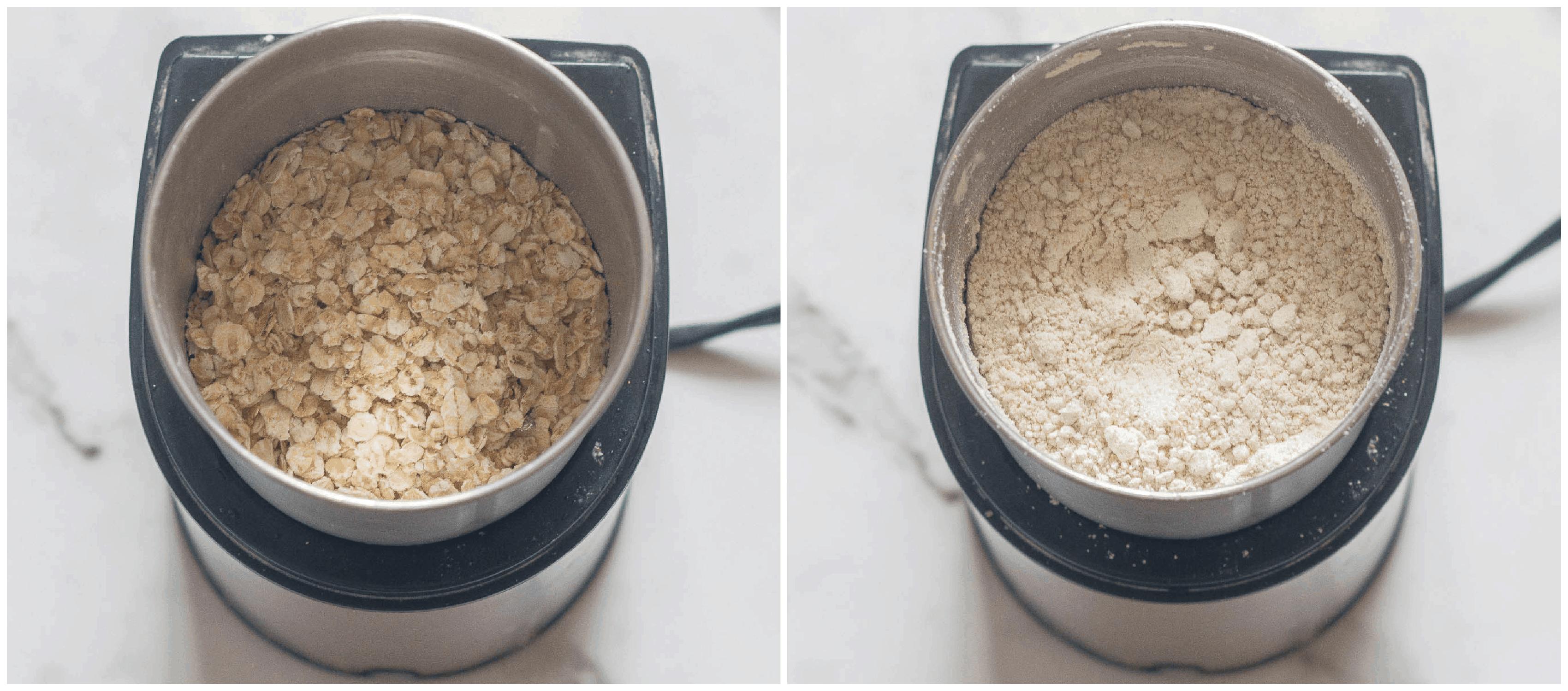 Making the oat flour