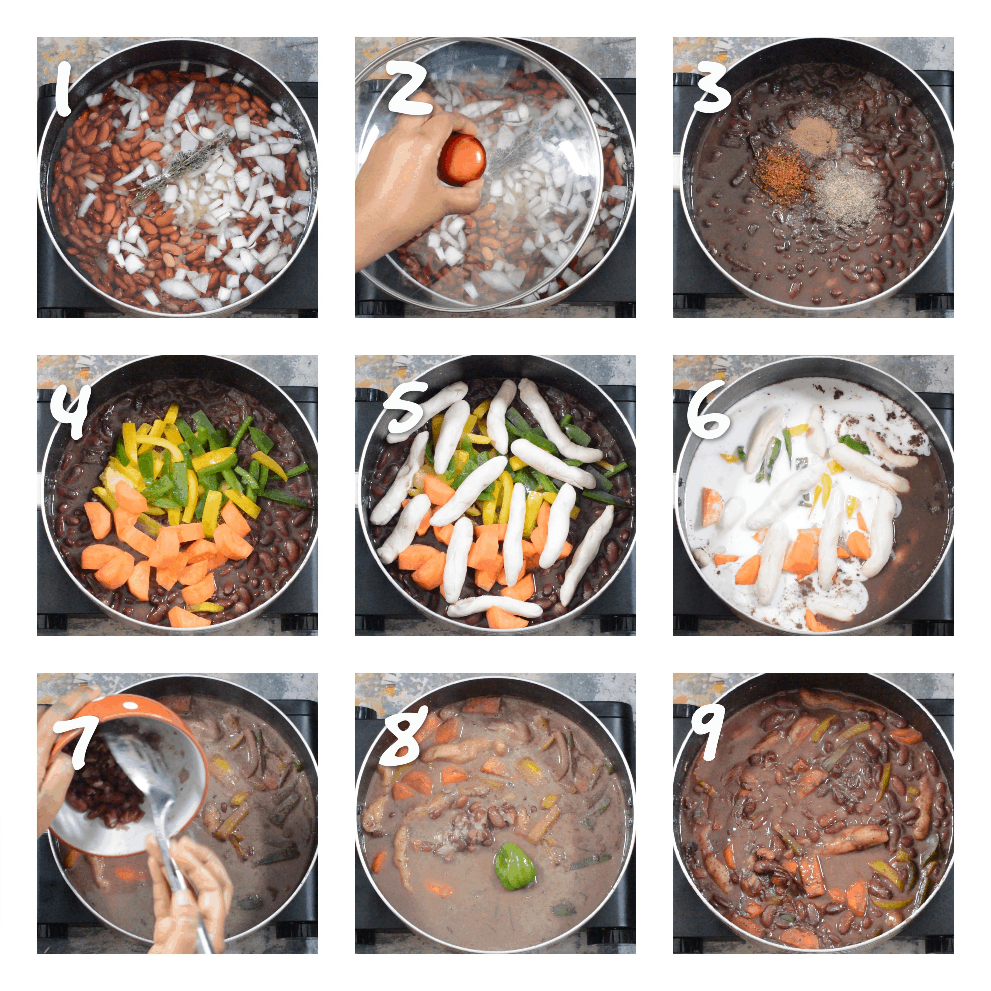 step1-9preparing the stew peas