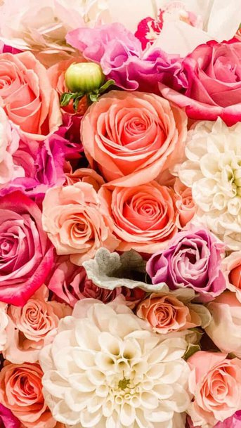 Colorful flowers wallpaper aesthetic, pink flower wallpaper iPhone
