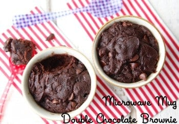 Microwave Mug Double Chocolate Brownie by Weelicious