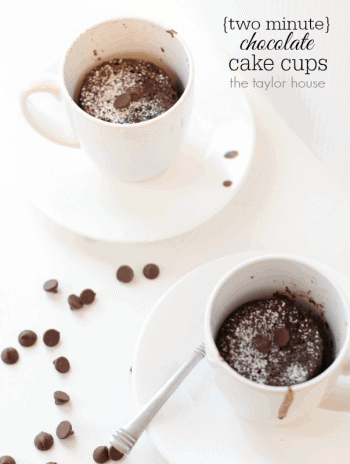 Two Minute Chocolate Cake Cups by The Taylor House