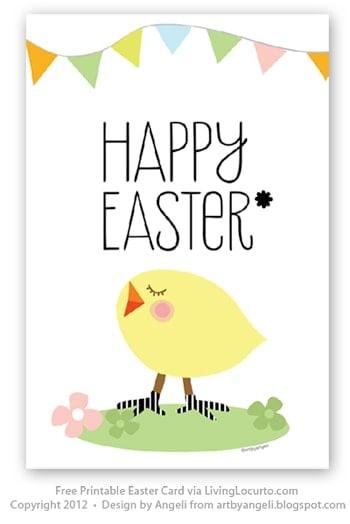 Free Printable Easter Card at LivingLocurto.com