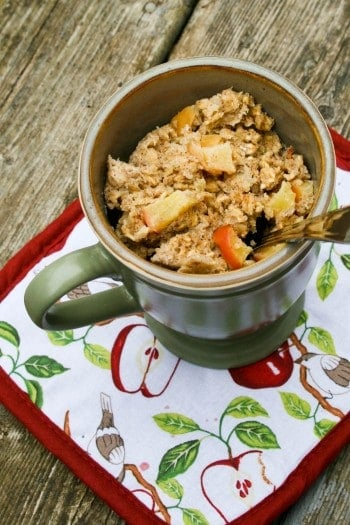 Apple Banana Baked Oatmeal in a Mug by Food and Whine