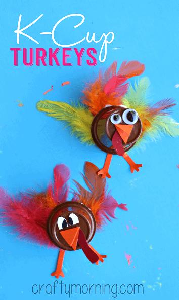 cute turkeys made from K cups