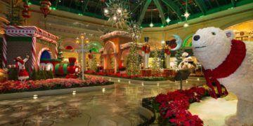 The bellagio decks its halls in las vegas