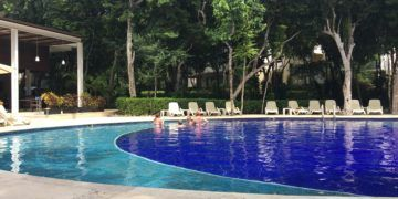 The lush secluded pool at adults only bahia principe sian ka'an
