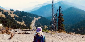 A view of the mountains around olympic national park from the sunrise trail on hurricane ridge