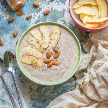 porridge with fruit on it