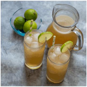 tall glasses of lemonade