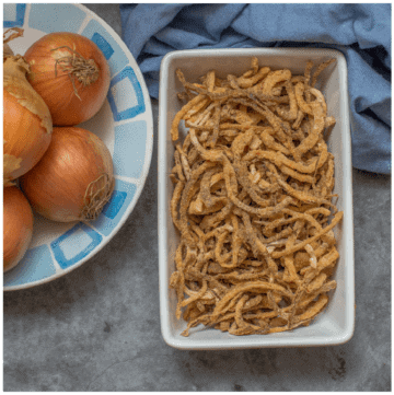 onions in a dish