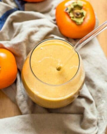 smoothie with 2 persimmons