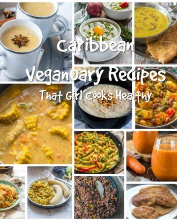 Caribbean recipe collage
