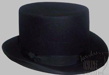 Top Hat All Wool Felt Black TOP Hat