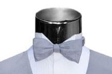 Bow Tie SILVER PIQUE SILK Bowtie