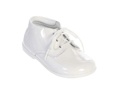 Patent Leather Baby Boys White Shoes