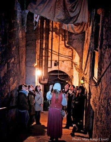 Mary king's close on beneath the  royal mile
