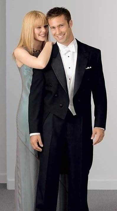 Tails Tuxedo Black Full Dress White Tie