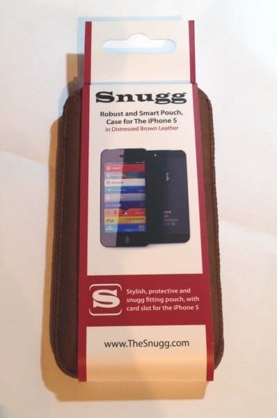 Review Snugg iPhone 5S Distressed Brown Leather Pouch Case Featured
