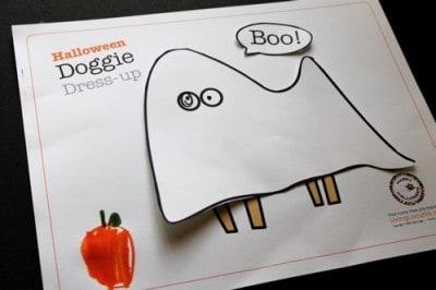 Free Printable - Halloween Dog Paper Dolls